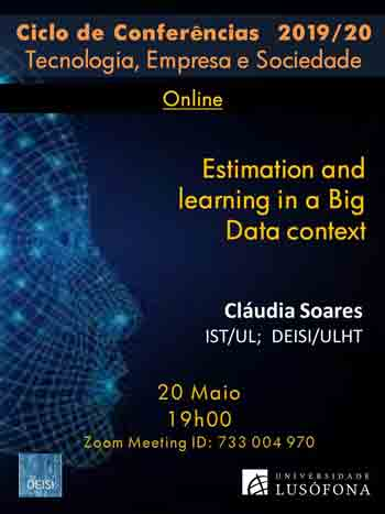 Estimation and learning in a Big Data context