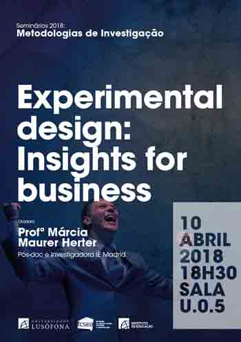 Experimental design: Insights for business